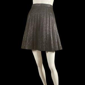 J.Crew metallic black skirt